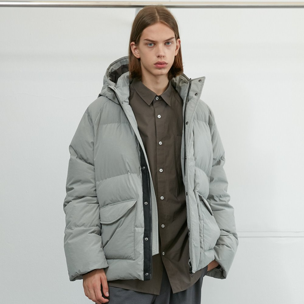 20FW Northcove Raglan hood Goosedown Jacket Cloud Gray