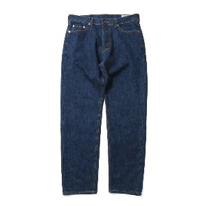 Blueborn Loose Tapered Denim Pants Normal Navy 803_Button Fly