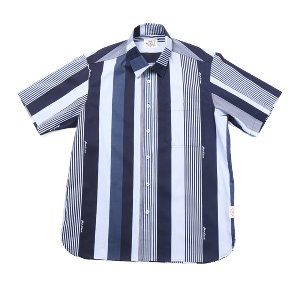 Buford Muli Stripe Printing Shirts Blue