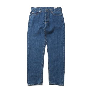 Blueborn Loose Tapered Denim Pants Light Navy 802_Button Fly