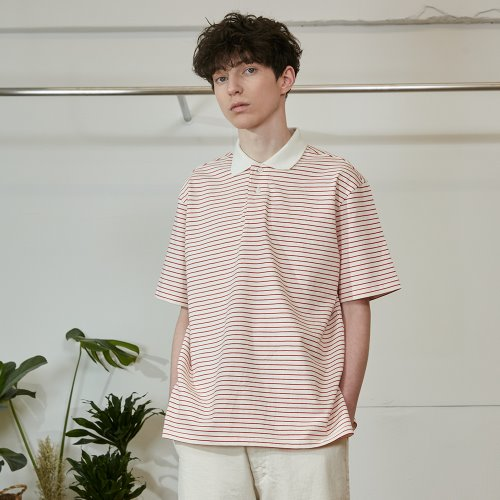 20SS Sumerset Stripe Pullover Shirts Red
