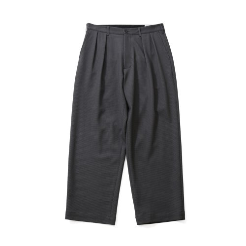 20FW Corinth Houndtooth Wide Loose Pants Charcoal Gray