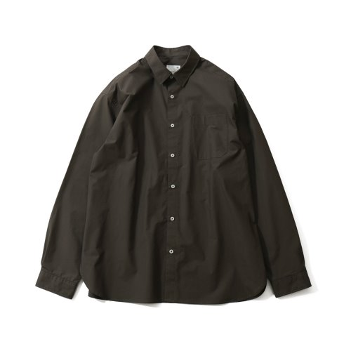 20FW Jane Extra Typewriter Loosefit Shirts Charcoal