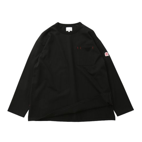 20FW Lawrence Overfit Long Sleeve Pocket T-shirts Black