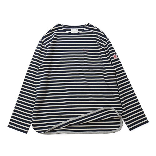 20FW Union Pocket Stripe Seasonal T-shirts Navy Cream