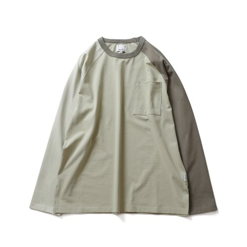 21SS Fairview Raglan Color Variation Pocket T-shirts Green Olive