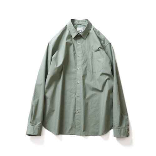 21SS Jane Solid Extra Typewriter Shirts Sage Green