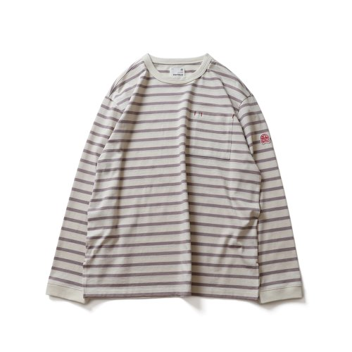 21SS Powell Pocket Stripe Seasonal T-shirts Lavender