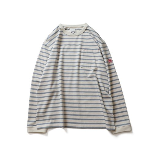 21SS Powell Pocket Stripe Seasonal T-shirts Blue