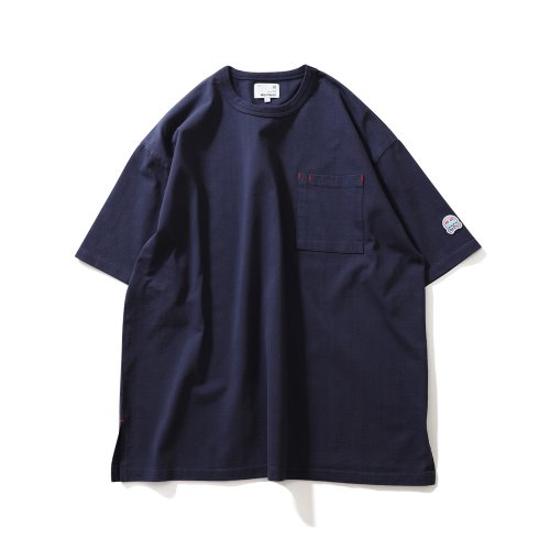 21SS Lawrence Overfit Short Sleeve Pocket T-shirts Navy
