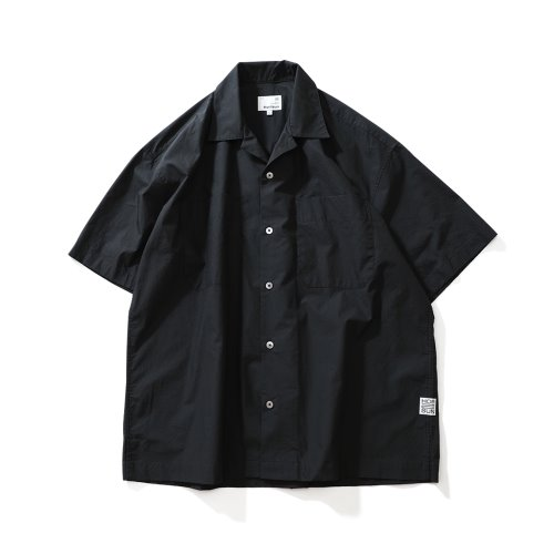 21SS Joshua Solid Extra Typewriter Open Collar Shirts Black