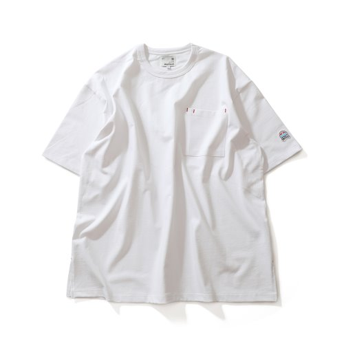 21SS Lawrence Overfit Short Sleeve Pocket T-shirts Off White