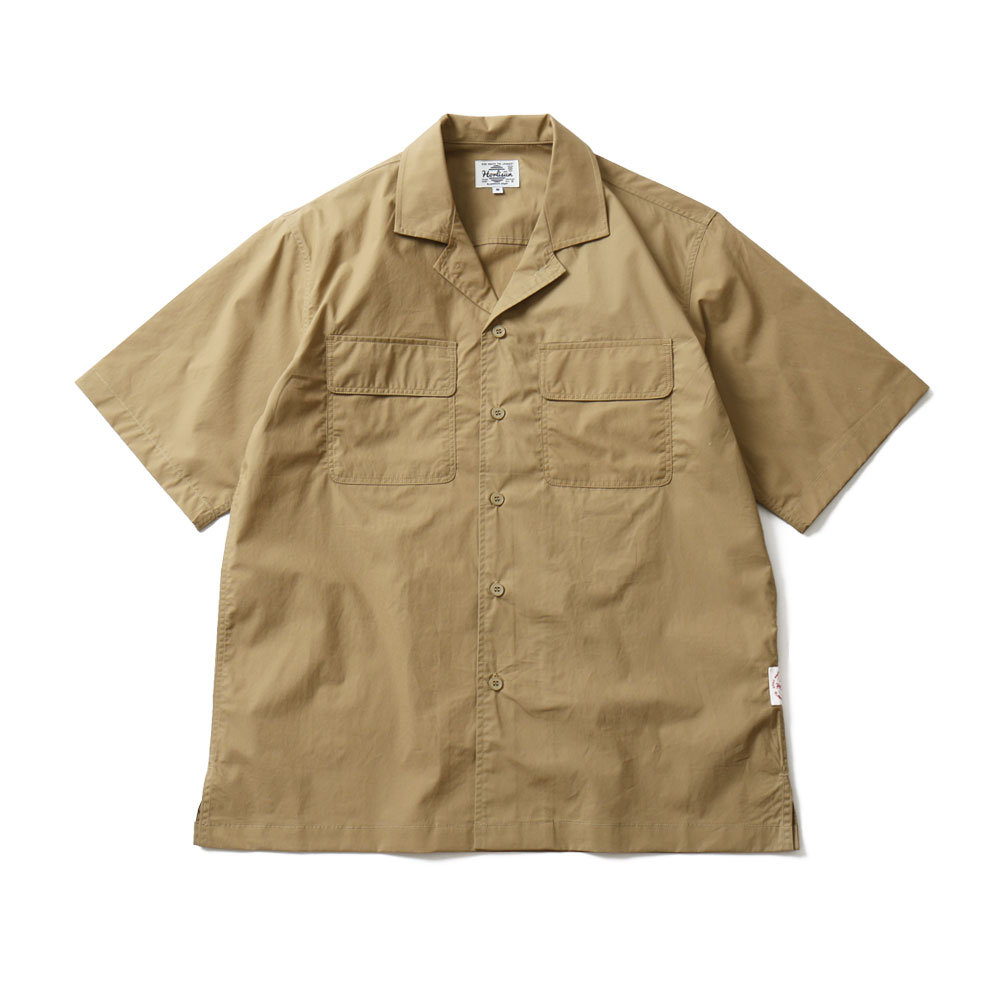 19SS Joshua Extra High Density Solid Open Shirts Beige