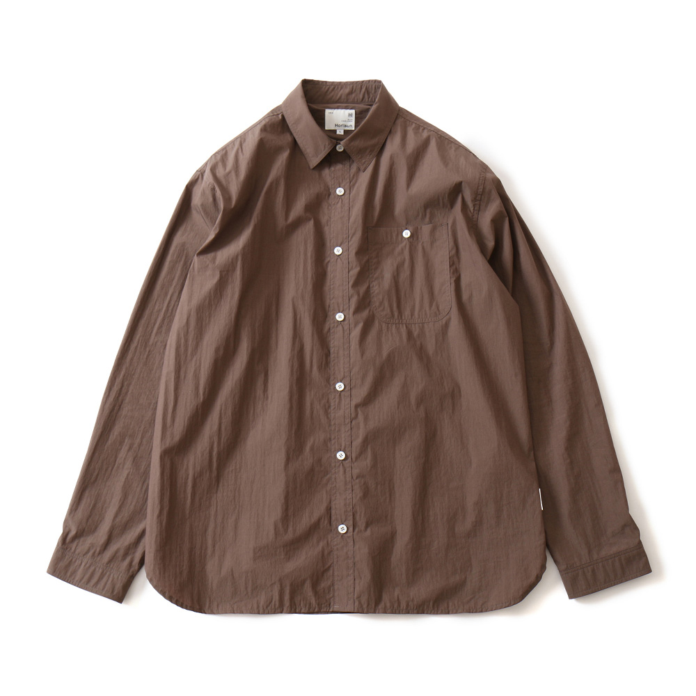 19FW Dundas Cotton Nylon Shirts Brown