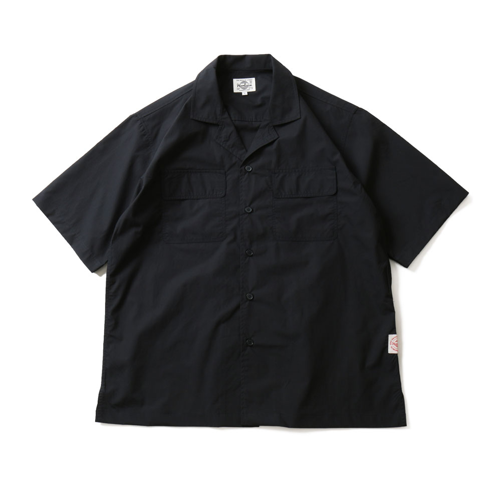 19SS Joshua Extra High Density Solid Open Shirts Navy