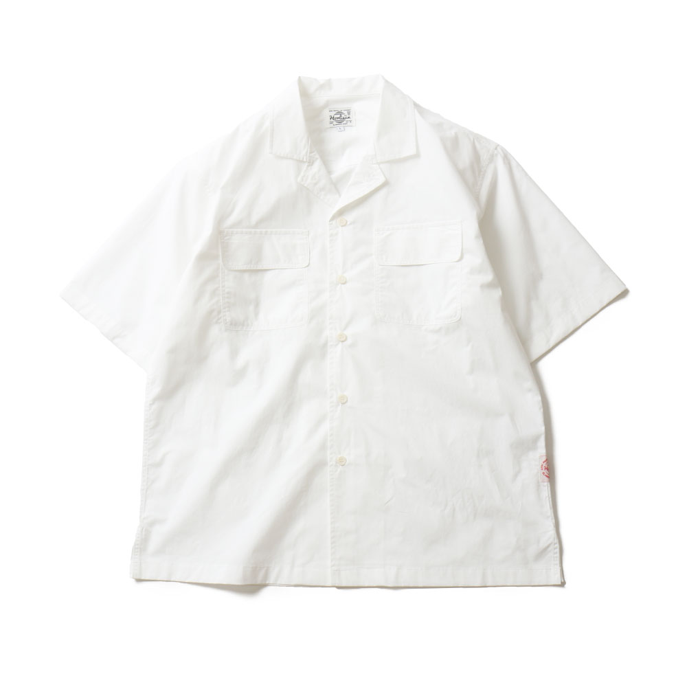 19SS Joshua Extra High Density Solid Open Shirts White